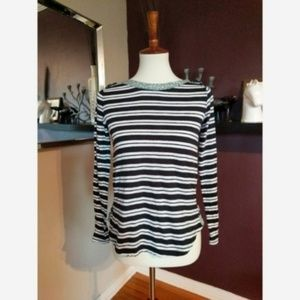 Anthropologie Postmark Stripe and Paisley Tee